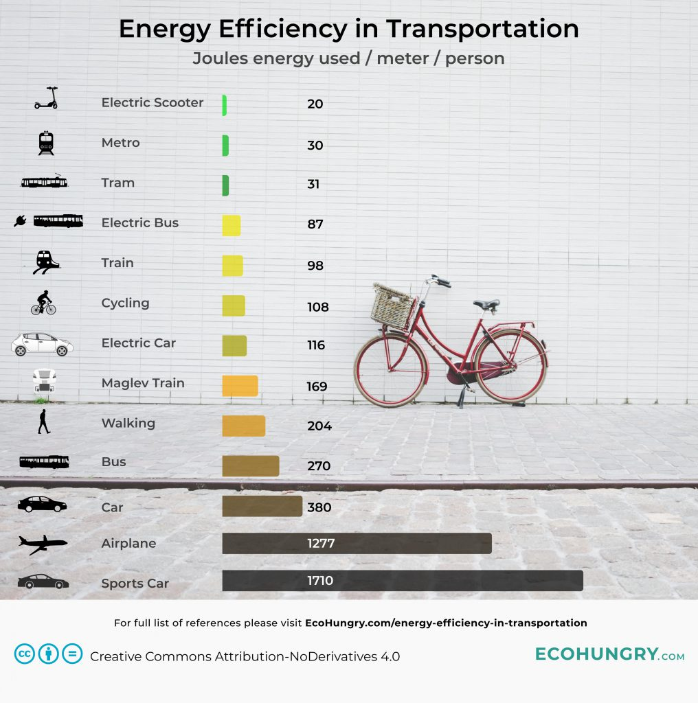 Energy Efficiency in Transportation Infographic